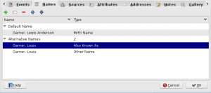 Name tab as grouped list