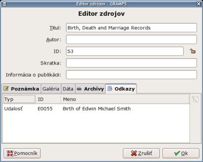 užívateľské meno tvorca pre dátumové údaje site