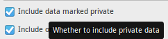 Standard Privacy check box